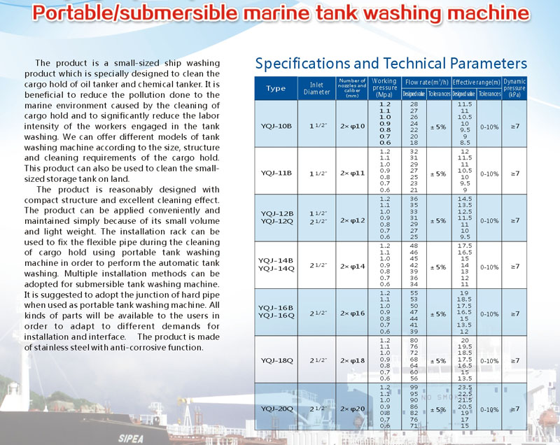 tank washing machine